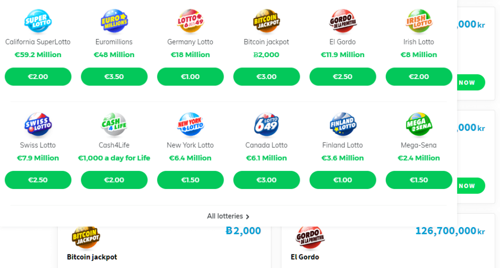 selection of lotteries