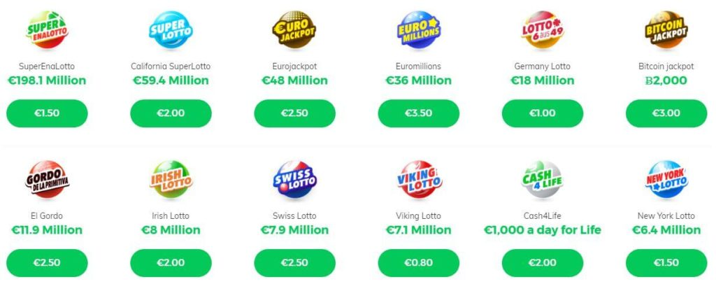 most popular lotteries in multilotto