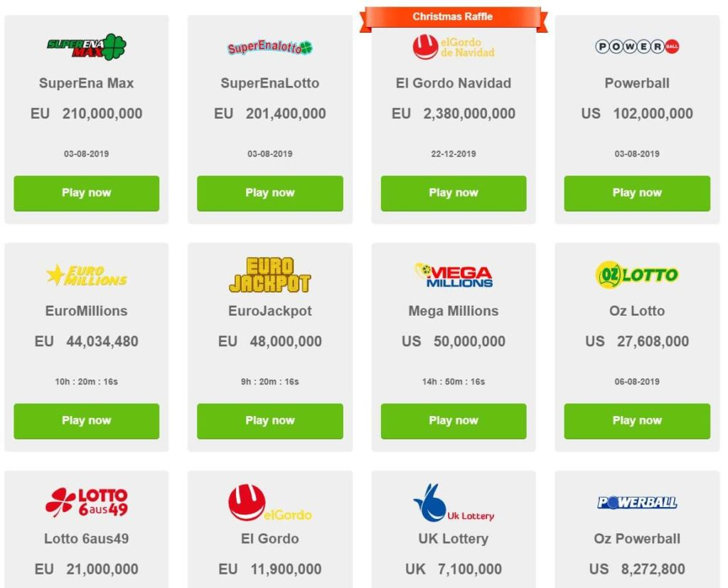 play huge lottos lottery list