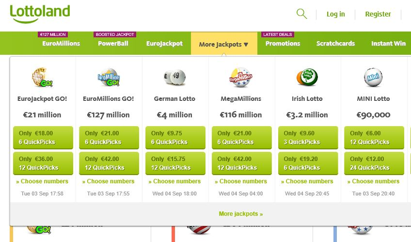 lottoland site betting products