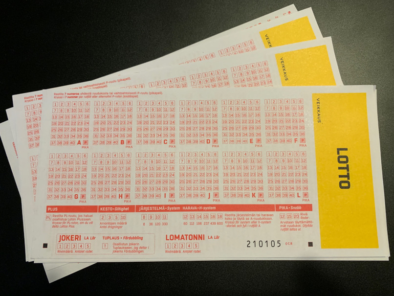 finnish lotto coupon